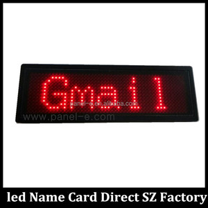 LANPAI Factory Best Price Rechargeable Battery Scroll Text Display Mini scrolling led name badge