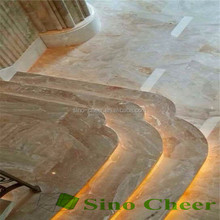 Interior pink marble tile for stair
