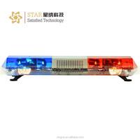Red and blue halogen police bar light rotating led strobe lightbar for car TBD-8000D