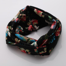 Flower printing headband with in cheap price