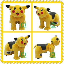 Ride on cartoon character plush toys electric animal toys for kids
