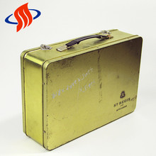 wholesale widely use portable rectangle kids custom metal tin lunch box with lock and key