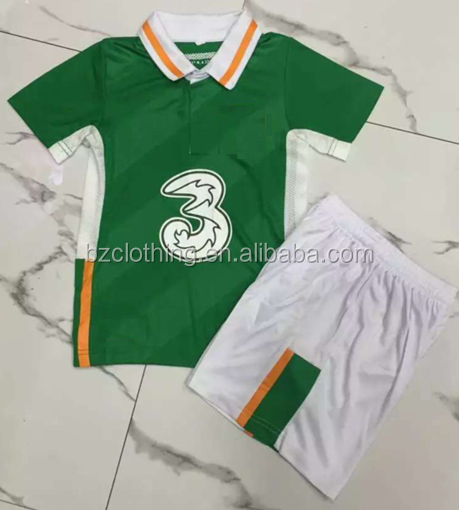 Euro 2016 New Ireland National Team Kids Soccer Jerseys and Shorts