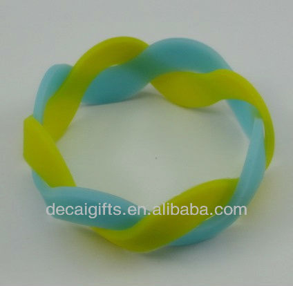 2 layer silicone wristband love rubber bracelet plain rubber bracelet