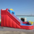 Used commercial inflatable slide the city bounce jumbo round inflatable water slide for kids and adults