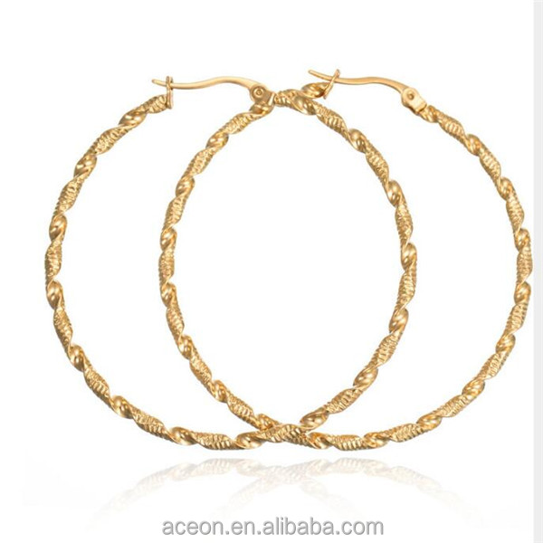 Yiwu Aceon High-Grade Handmade 18K Gold Plated Filled Newest Hoop Earring