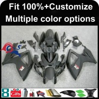 INJECTION MOLDING panels For Suzuki K6 GSX-R600 GSX-R750 GSXR 600 750 GSXR600 GSXR750 2006 2007 black Fairing
