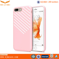 Pink twill Tpu case for Iphone 7 plus, OEM Tpu case for Iphone 7 plus