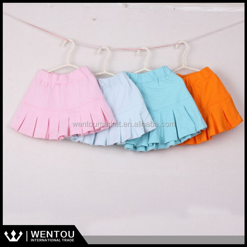 Girls 100% Cotton Candy Color Ruffle Baby Skirt