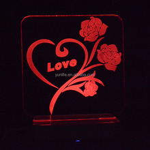 Love flowers electrical outlet led night light decorative night lights for adults