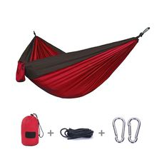 New travel camping outdoor lightweight double person nylon fabric parachute hammock
