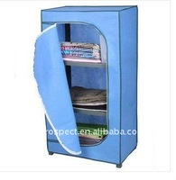 Bedroom furniture blue non woven clothing wardrobes
