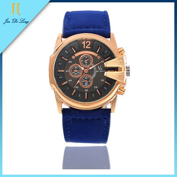 Japan Movt Quartz Watch Stainless Steel Back Fashion Men Watch Genuine Leather Watch