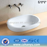 GT-499 Table Top Wash Basin drop in white vessel basin