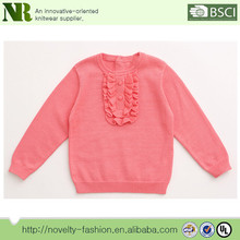 Girls 100% cotton fall winter soft knitted pullover