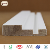 Custom Waterproof Pine Spruce white gesso primed finger Jointed Trim Joint Lamination Wood Board