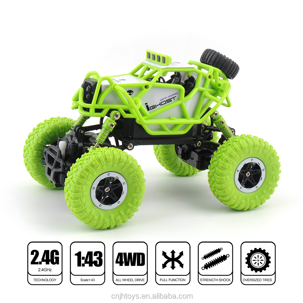 RC Car 1:43 R/C Monster Truck Mini RC Rock Crawlers 2.4Ghz Radio Remote control climb car Off-Road Model Vehicle Toys
