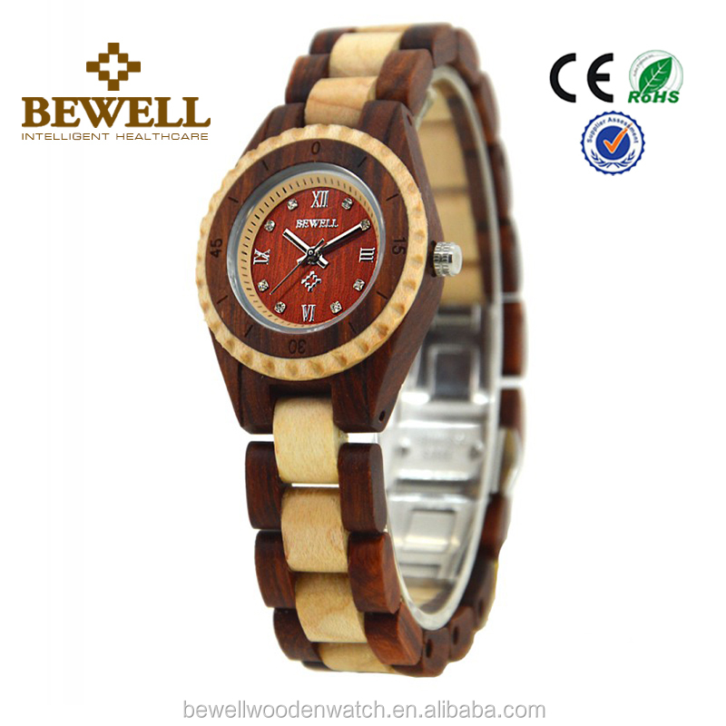 New Arrival Fashion Ladies wood woman watch wholesale cheap watch wood