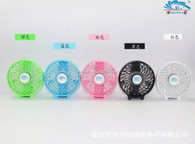 hand Mini USB Fan Protable Rechargeable Fan With LED light 18650 Battery