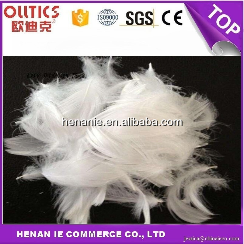 2-4 cm washed white sticky goose feathers used for sofa pillow core