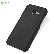 Lenuo ultra thin soft back cover PU leather for Samsung Galaxy A7 2017 phone case