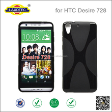 X line TPU gel case for HTC desire 728,soft wave gei case cover for HTC desire 728