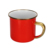 red color cast iron metal customized printing decal enamel camping mug with gold rim