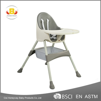 restaurant multi-function baby high chair with en certificate, PU material comfortable modern baby high chair