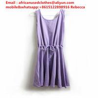 used clothing/ Used Clothing uk design and type, magenta colour lady poly dress