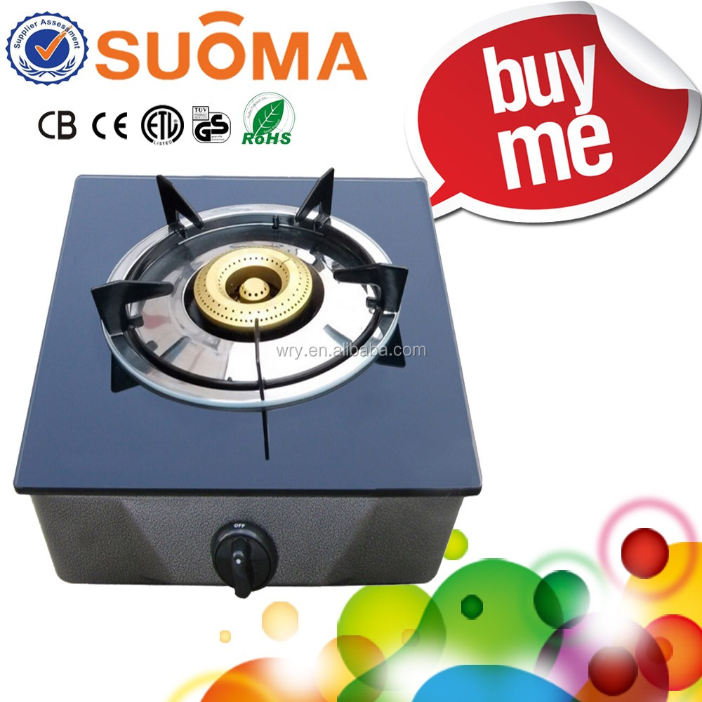1 Burner Tempered Glass Table Top Gas Cooker/gas burner/Single Burner Glass Table Top Gas stove