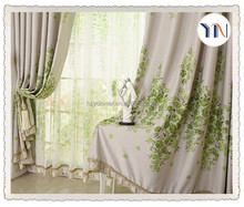 home textile 100% polyester jacquard hotel blackout european style hotel window curtain