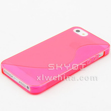 hot popular wholesale S curve TPU mobile phone case for iphone 5 custom back cover case
