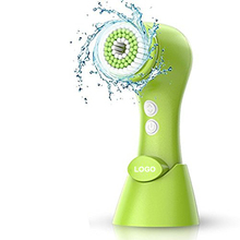 Electronic Rotating Facial Cleansing Brush Face Scrubber Exfoliator Cleaning Brush 2 Speed Cleanser Washer Battery Operated