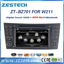7 inch car gps navigation system for Mercedes Benz e-class w211,cls w219,clk w209,e240 car navigation with dvd gps system 10disc