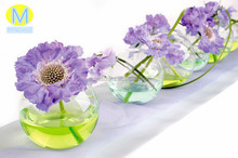 High Quality round-shaped clear glass material flower vases for sale