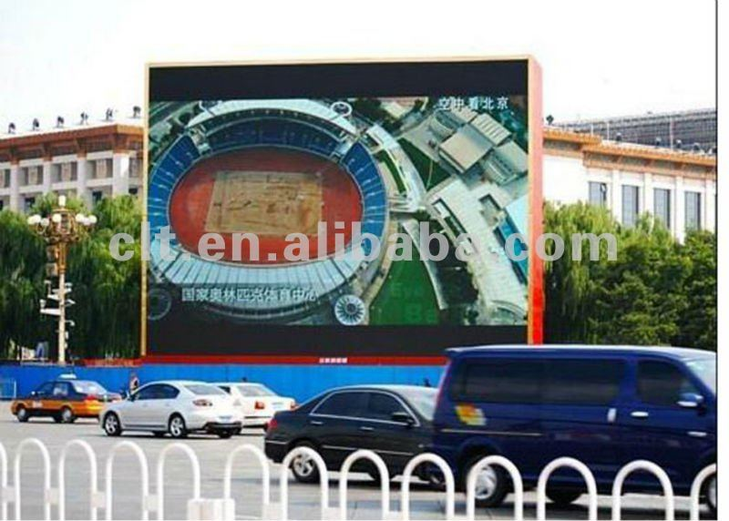 P16 outdoor digital full color led advertising video display screen