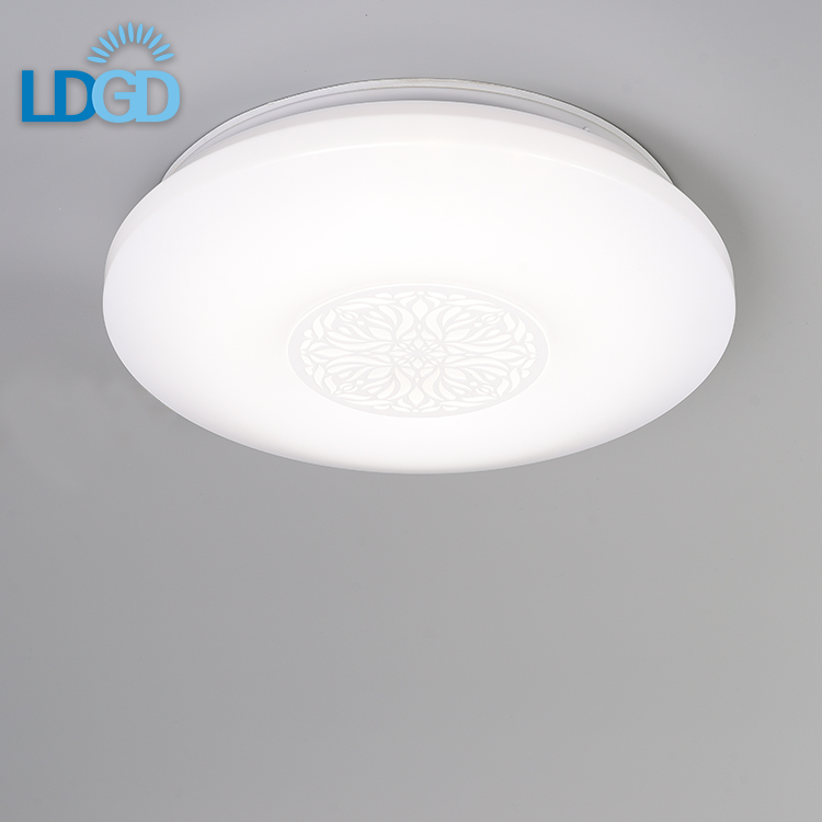 Flower Carved Simple Led Ceiling Lamp