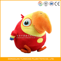 Plush bird red parrot toy