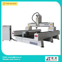 Wood Sculpture Machine CNC Router 400mm Z Mach3 4 Axis Control Diameter 200mm Rotary Axis ZK-1325