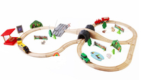 wooden electric train track suits wooden Thomas train track toys wooden educational toys for kids