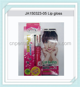 promotional pink girlish waterproof lip gloss