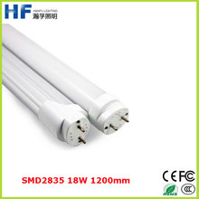 Aluminum and PC cover T8 cool white 18W 4 feet led tube light