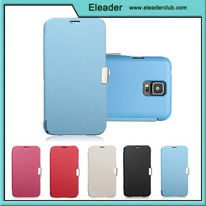 case for samsung galaxy s5 slim flip magnetic leather case