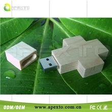 Wood ross usb flash drive OEM logo gifts