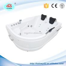 Logo Printed Dissimilarity Two Persons Hot Tub Medical Modern Acrylic Resin Bathtub with Radio