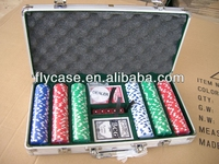 Aluminum twice test before packaged impactful professional 300 poker chip set made in China