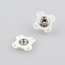 Flowers shaped metal snap fasteners for clothing