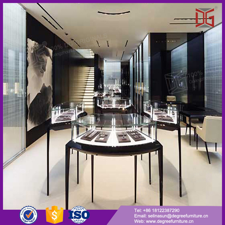 2016 jewelry shop display showcase with lock floor display stands
