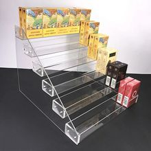 Retail shop acrylic display case for cigarette