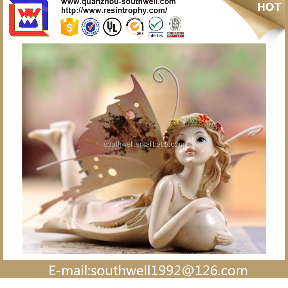 polyresin figurine craft of flower fairy